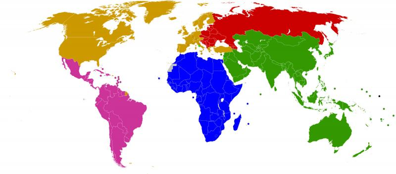 Image of the world group by colours